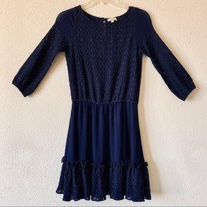 Shoshanna Midi Navy Dress (2)